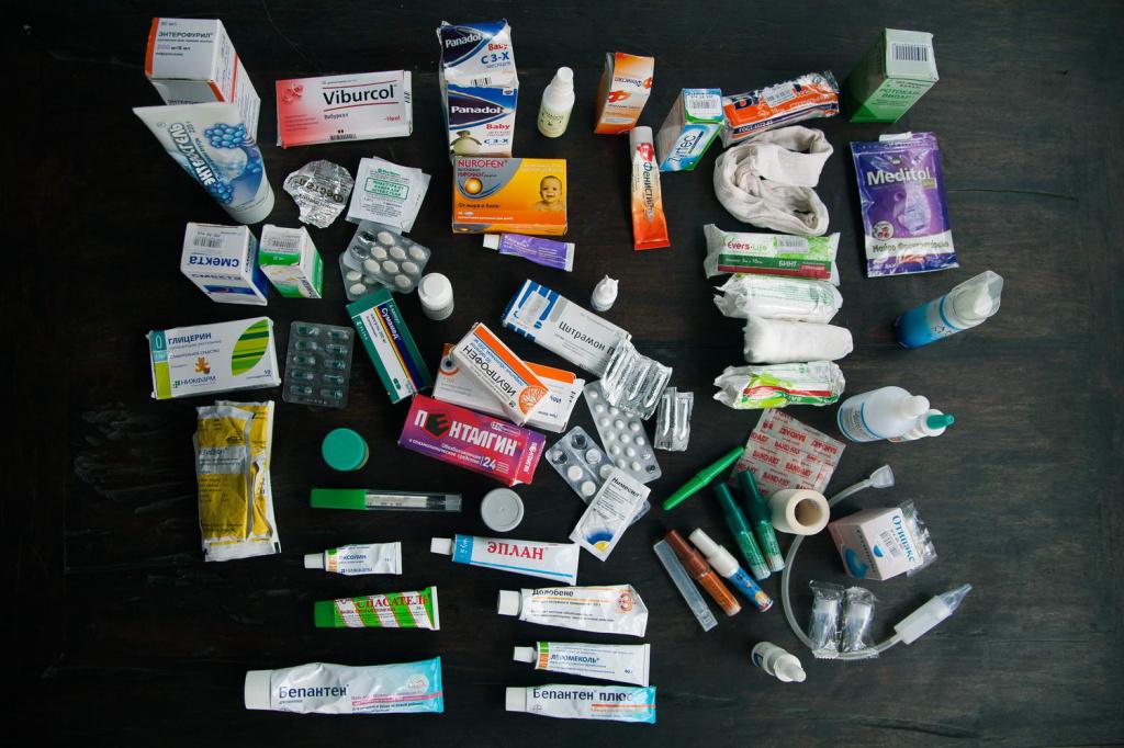 аптечка для поездки на море